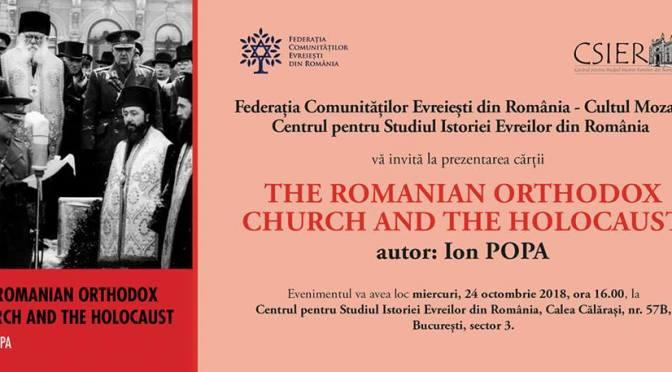 Lansarea cărţii despre Biserica ortodoxă şi holocaust