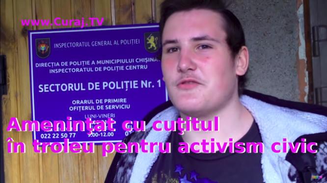 Ameninţat cu cuţitul în troleu pentru activism