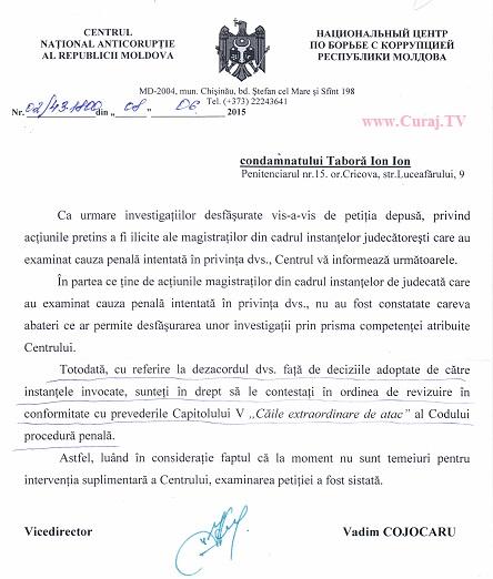 Se pare că dosarul penal Ion Taboră a fost fabricat
