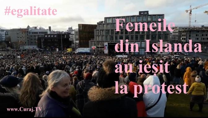 Femeile din Islanda au ieșit la protest
