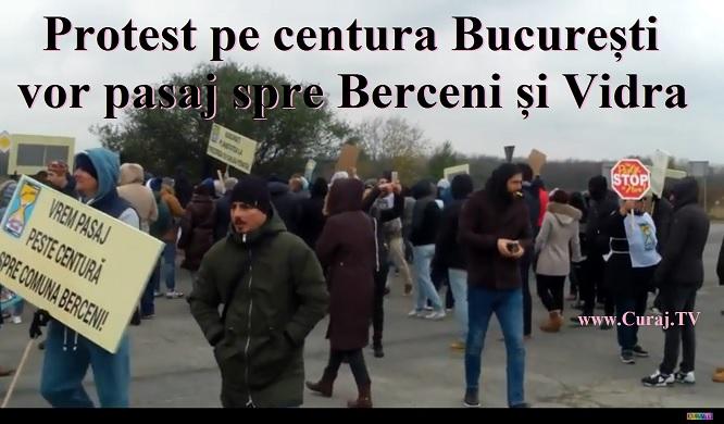 Protest supărat pe centura Bucureşti, spre Berceni şi Vidra