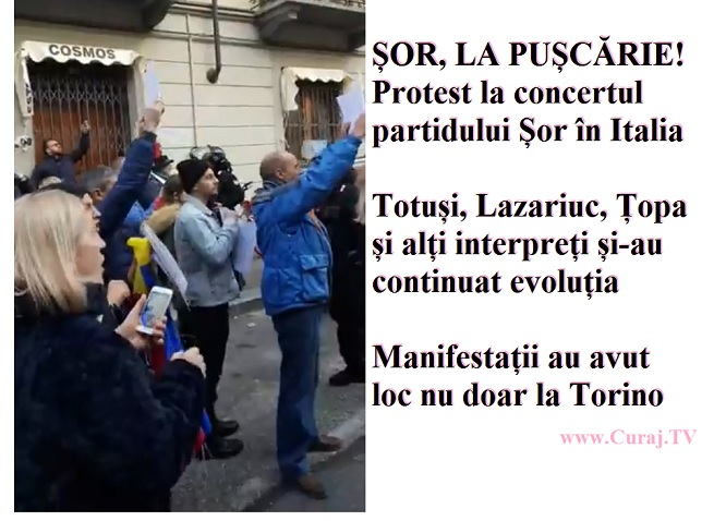 Protest la Torino, diaspora nu vrea concerte de la mafie