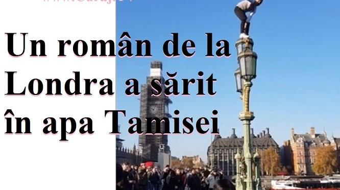 Un român de la Londra a sărit în Tamisa