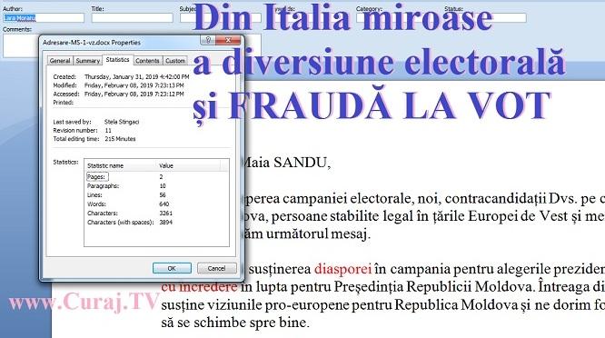 Din Italia vine iz de diversiune electorală și fraudă