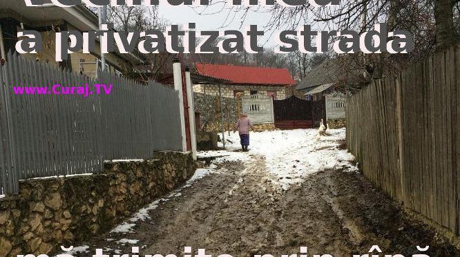 """Vecinul mi-a poruncit să merg prin rîpă, nu pe drumul său """"privatizat"""""""