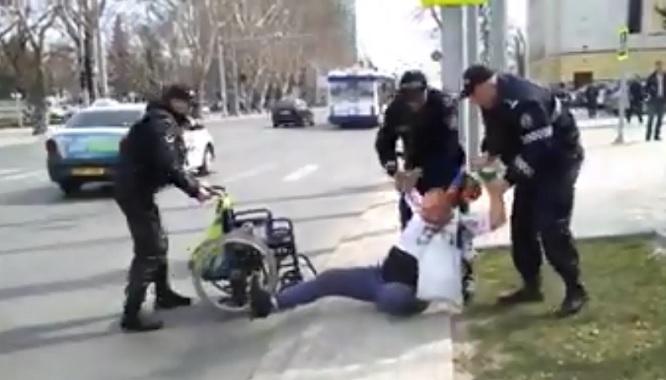 Abuz polițienesc la Chișinău