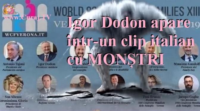 Dodon apare într-un clip italian cu monștri