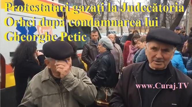 Protestatari gazați la Orhei după condamnarea lui Gheorghe Petic