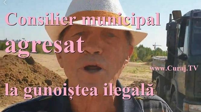 Consilier municipal agresat la o gunoiște ilegală