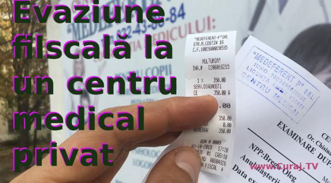 Evaziune fiscală în instituţie medicală