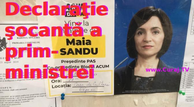 Maia Sandu: Nu avem stat, avem o parodie