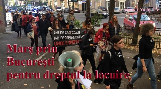 Marș spre Parlament pentru dreptul la locuire