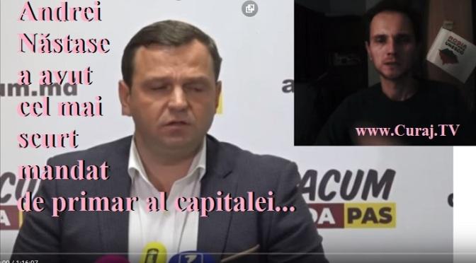 Andrei Năstase a avut cel mai scurt mandat de primar #live
