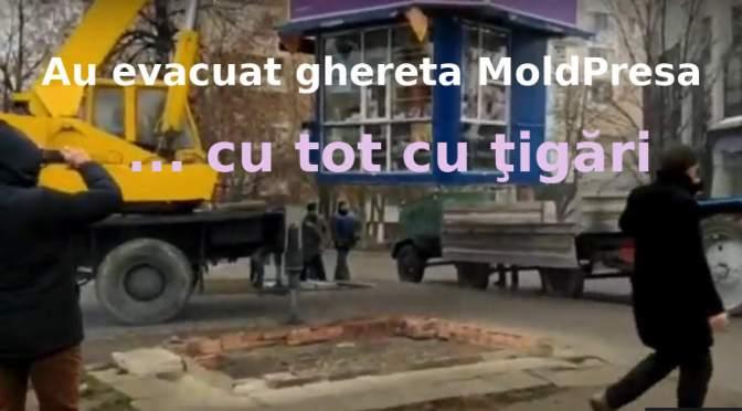 Au evacuat ghereta MoldPresa cu tot cu… ţigări