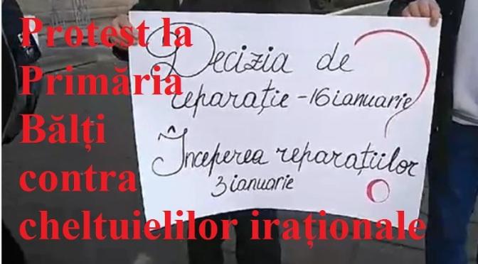 Protest la Primăria Bălți contra cheltuielilor iraționale