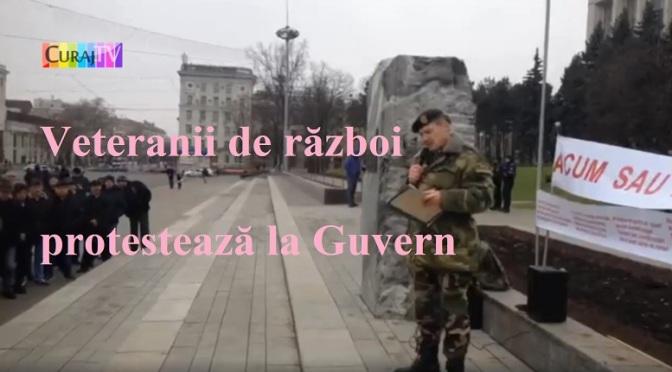 Veteranii protestează, dar nu vor lider – general