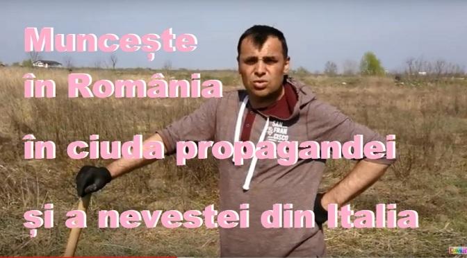 Muncește în România, în ciuda nevestei din Italia