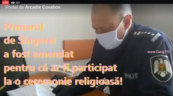 Primarul de Sîngerei e amendat pentru o slujbă religioasă