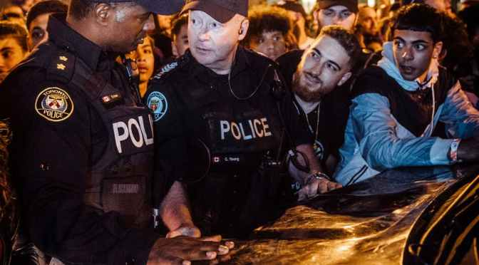 Abuz polițienesc în fața ANP, la protest