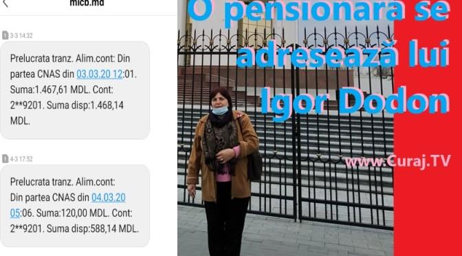 O pensionară revoltată se adresează lui Dodon