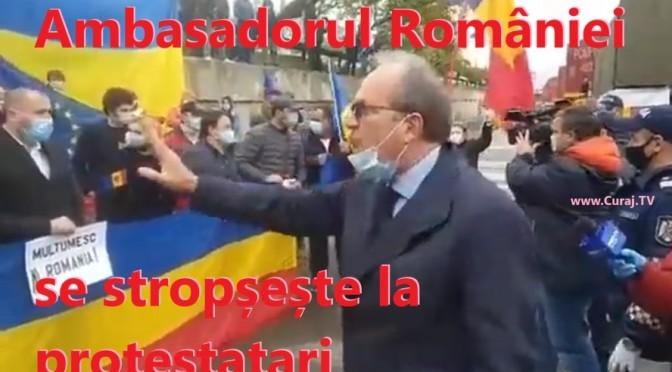 Ambasadorul României la Chișinău închide gura protestatarilor