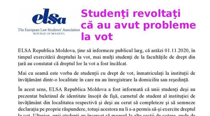 Studenţi revoltaţi că au probleme la votare